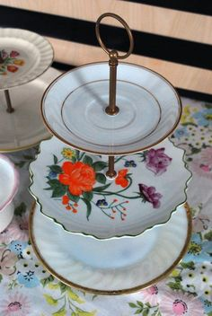 How To Make Your Own DIY Vintage Plate Tiered Dessert Stand  Apartment Therapy Tutorial