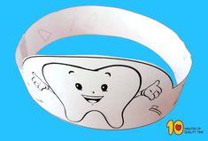 Tooth Brushing Paper Crown Rocking Unicorn, Tooth Crown, Tooth Brushing, Crown Crafts, Dental Kids, Brush My Teeth, Paper Crowns, Learning Arabic, Dental Health