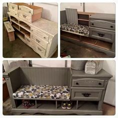 This would probably work great for the dresser we have to create the entryway space.