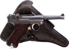 Semiautomatic Pistol, German Mauser K Date Model P08 S42 Luger Semi-Automatic Pistol with Holster