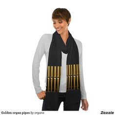 Golden organ pipes scarf