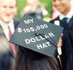 I didn\'t decorate my cap for either high school or undergrad #1 graduation, but after getting two bachelor\'s degrees, taking over 200 undergrad credit hours and over 150 graduate credit hours, I\'m pretty sure my undergrad #2 cap will NEED to have this!