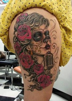Sugar Skull Girl tattoo