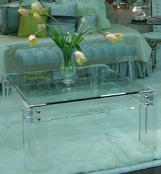 Lucite table from The Paris Apartment
