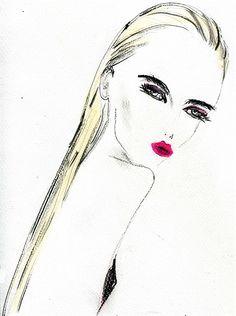 Female illustration by Lucia Emanuela Curzi