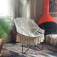 Macrame Chair Mid Century Modern Macrame Hoop Chair Macrame By Macrame Baby Swing Chair Pattern