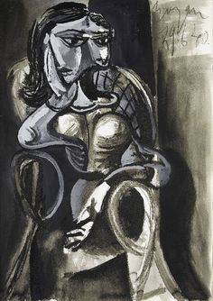 """Pablo Picasso, """"Woman sitting in an armchair"""", 1940"""