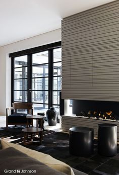 Fireplace graphic lined | Designed by Grand & Johnson | www.grandjohnson.com