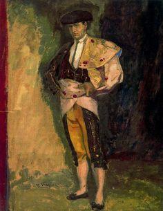 "el torero Ricardo Torres ""Bombita"" 1906 by Daniel Vazquez Diaz (Spanish 1882 – 1969)"