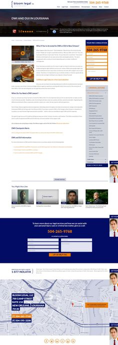 Law firm web design, legal practice areas, law firm website, legal website, attorney website by PaperStreet