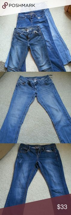 3 pairs - Juniors Long Jeans variety of colors 3 pairs super cute 9/10 long jeans by Maurices. Selling as a set of 3 @ $25 set. Maurices Jeans Boot Cut
