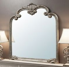 Beatrice Ornate Silver Mirror