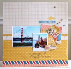 #papercraft #scrapbook #layout.  ** Chic Tags- delightful paper tag **: Let's Go!