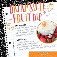 Great for an after school snack paired with fruit. Also a fun fruit dip for your social gathering.