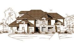 Luxury Style House Plans - 6940 Square Foot Home , 3 Story, 6 Bedroom and 5 Bath, 3 Garage Stalls by Monster House Plans - Plan 19-540