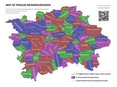 Map of Prague Neighbourhoods.