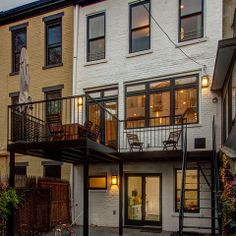 Park Slope Brownstone - metal deck and backyard access.