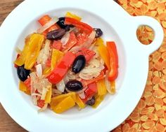 SAUTÉED RED & YELLOW PEPPER RELISH  85 calories