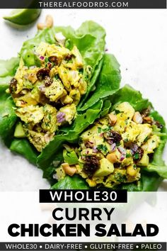 With Indian-inspired flavors, this Curry Chicken Salad is delicious and nutritious. Easily made with antioxidant-rich curry powder, crispy vegetables, and crunchy cashews, this is one salad you'll want to make again and again. Ketogenic Recipes, Keto Foods, Keto Recipes, Healthy Eating Habits, Healthy Meals, Healthy Food, Whole 30 Recipes, Real Food Recipes, Chicken Curry Salad