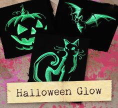 Let these haunting designs play on dark fabrics with glow-in-the-dark thread for festively frightful apparel, decor, and more!