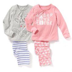 Lote de 2 pijamas em jersey estampado Pequenos Preços | La Redoute