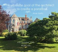 The ultimate goal of the architect. is to create a paradise. Alvar Aalto, Amazing Architecture, Open House, Paradise, Social Media, Mansions, House Styles, City, World