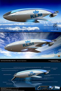 KLM's aircraft from designer Reindy Allendra Spaceship Concept, Concept Cars, Dirigible Steampunk, Future Transportation, Colani, Aircraft Design, Futuristic Design, Future Car, Dieselpunk