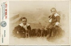 Dogs Dogs and More Dogs Brothers with Puppies Best Cabinet Card on eBay | eBay