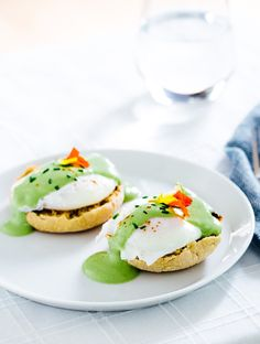 Matcha Eggs Benedict | Love this twist on the traditional recipe.