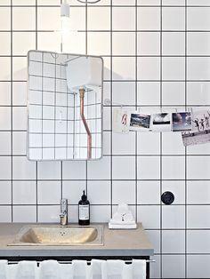 White tile bathroom