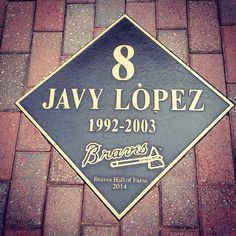 Javy Lopez! Best Braves catcher ever! This is at Turner Field!