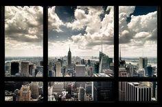 (24×36) New York Window Poster
