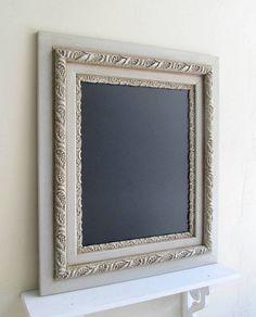 Rustic Wedding CHALKBOARD Vintage Framed Chalk by ShugabeeLane, $169.00