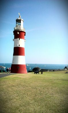 Smeaton's tower, Plymouth, UK. I swear it never looks like this - it always rains in plym