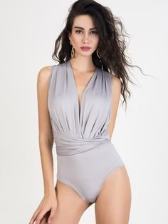 Item Type: Jumpsuits & Rompers Gender: Women Fit Type: Skinny Decoration: Sashes Pattern Type: Solid Style: Novelty Type: Bodysuits Brand Name: CHARLES RICHARDS Fabric Type: Broadcloth Material: Cotto