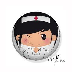 badge petite infirmière