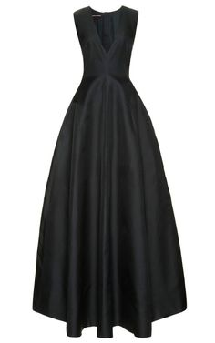 To die for! Silk-Gazar+Deep+V-Neck+Gown+by+Rochas+Now+Available+on+Moda+Operandi