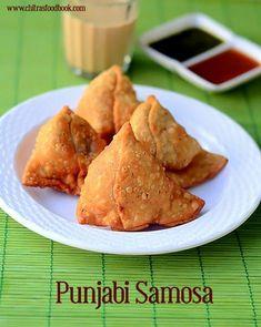 Samosa recipe - How to make Punjabi veg samosa at home Veg Samosa, Punjabi Samosa, Samosa Recipe, Dhokla Recipe, Indian Food Recipes, Indian Foods, African Recipes, Indian Snacks, Indian Dishes