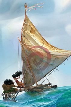 """Sure OK, the boat he rides during """"In Summer"""" looks a tiny bit like Moana's, but even that seems like kind of a reach. 