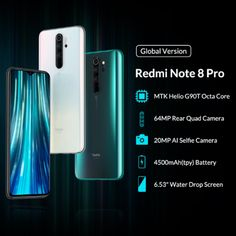 Buy Global Version Xiaomi Redmi Note 8 Pro Mobile Phone Quad Camera MTK Helio Octa Core Smartphone NFC at eSellect! Great selections of high-quality products! Iphone 7 Plus, Iphone 6, Quad, Latest Cell Phones, Smartphones For Sale, Samsung, Latest Gadgets, Note 8, Dual Sim
