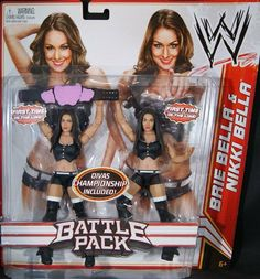 BELLA TWINS (NIKKI & BRIE BELLA) - WWE BATTLE PACKS 15 WWE TOY WRESTLING ACTION FIGURE 2-PACKS by MATTEL. $41.99. BELLA TWINS (NIKKI & BRIE BELLA) - WWE BATTLE PACKS 15 WWE TOY WRESTLING ACTION FIGURE 2-PACK. BELLA TWINS (NIKKI & BRIE BELLA) - WWE BATTLE PACKS 15 WWE TOY WRESTLING ACTION FIGURE 2-PACKS