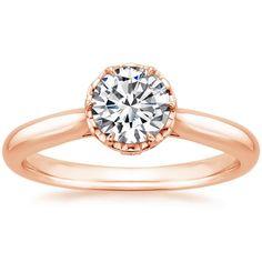 14K Rose Gold Pirouette Diamond Ring from Brilliant Earth