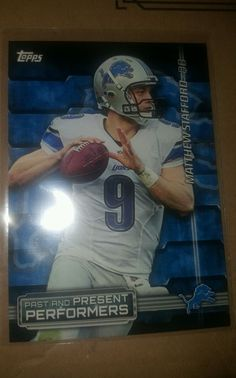 2015 Topps Past and Present Performers Matthew Stafford Detroit Lions in Sports Mem, Cards & Fan Shop, Cards, Football | eBay