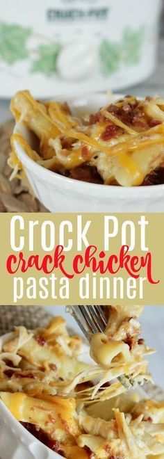 This crack chicken slow cooker crock pot dinner is SO good! This is a GREAT easy dinner for family night when everyone is running different directions, or you need a no fuss meal! #chicken #dinner