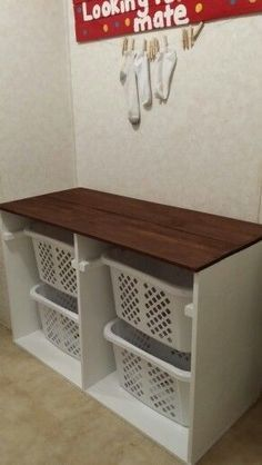 "Excellent ""laundry room storage diy small"" detail is offered on our site. Take a look and you wont be sorry you did. Laundry Room Doors, Laundry Room Remodel, Laundry Room Organization, Laundry Storage, Craft Room Storage, Laundry Room Design, Diy Storage, Storage Ideas, Laundry Basket Storage"