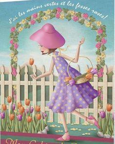 artiste nina de san Cute Images, Cute Pictures, Decoupage, Image Deco, Finger Art, Marquis, Cute Illustration, Flowers Illustration, Cute Cartoon