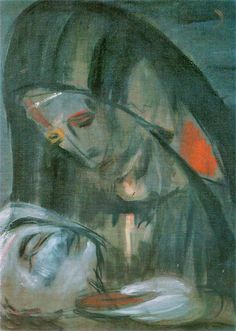 """A painting by Wilhelm Lehmbruck """"Pieta"""", 1915 Home Altar, My Favorite Image, Cubism, Female Images, Art Techniques, Artist At Work, Beautiful Images, Art Lessons, Cool Art"""