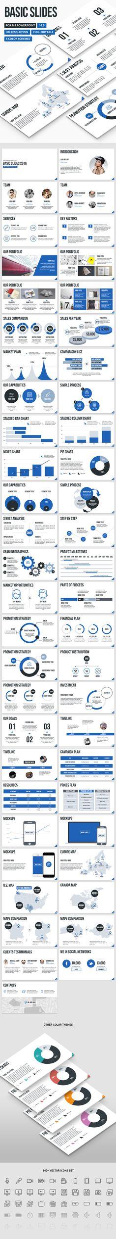 Basic Slides - PowerPoint Presentation Template. Download here: https://graphicriver.net/item/basic-slides-powerpoint-presentation-template/17034425?ref=ksioks