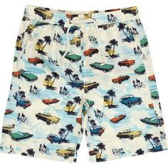 Boys ecru car print swim shorts - swimwear - boys