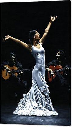 Flamenco Acrylic Print featuring the painting Finale Del Funcionamiento Del Flamenco by Richard Young